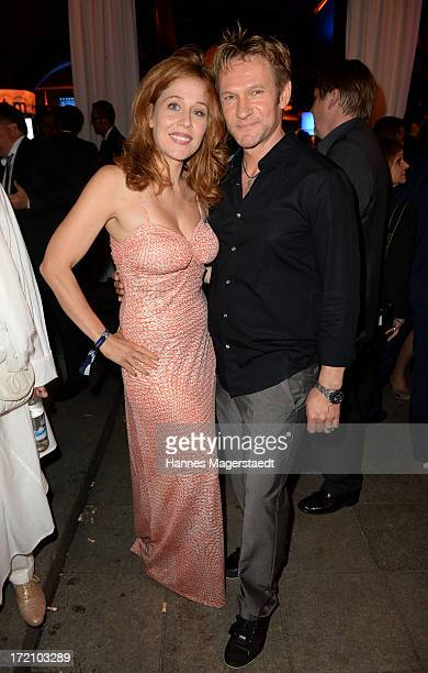 Thure Riefenstein and his wife Patricia Lueger attend the Movie Meets Media Party during the Munich Film Festival 2013 at P1 on July 1, 2013 in...