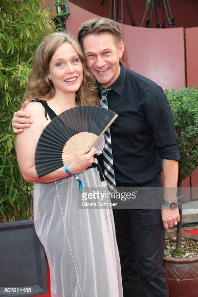 Thure Riefenstein and his wife Patricia Lueger during the Bavaria Film reception during the Munich Film Festival 2017 at Kuenstlerhaus am...