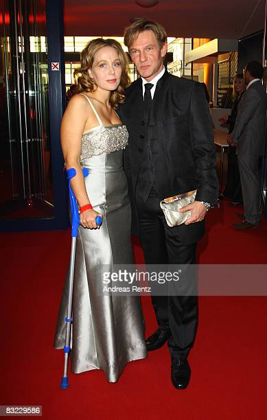 Thure Riefenstein and Patricia Lueger arrive for the German TV Award 2008 at the Coloneum on October 11, 2008 in Cologne, Germany.