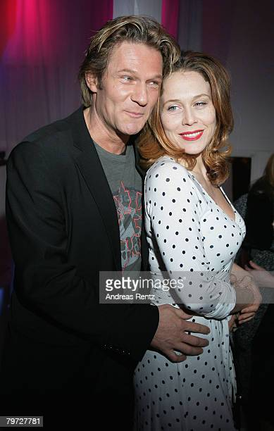 Thure Riefenstein and Patricia Lueger attend the BFFS Party as part of the 58th Berlinale Film Festival at the Puro Lounge on February 12, 2008 in...