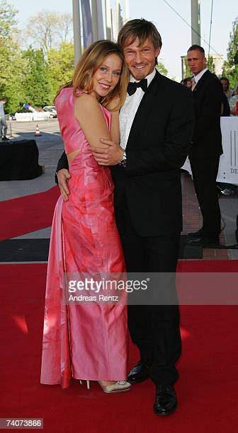 Thure Riefenstein and Patricia Lueger attend the German Film Awards at the Palais am Funkturm on May 4 2007 in Berlin Germany