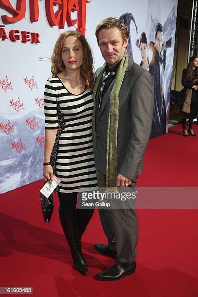 "Thure Riefenstein and Patricia Lueger attend the German premiere of ""Hansel and Gretel: Witch Hunters"" at the Kulturbrauerei on February 12, 2013 in..."