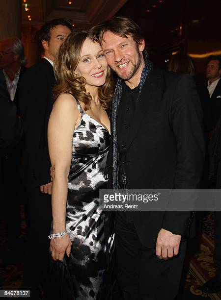 Thure Riefenstein and Patricia Lueger attend the 'Movie Meets Media' as part of the 59th Berlin Film Festival at the Ritz Carlton Hotel on February...