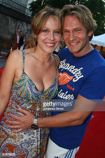 Thure Riefenstein and Patricia Lueger attend the 'Movie Meets Media' party at discoteque P1 on June 23 2008 in Munich Germany