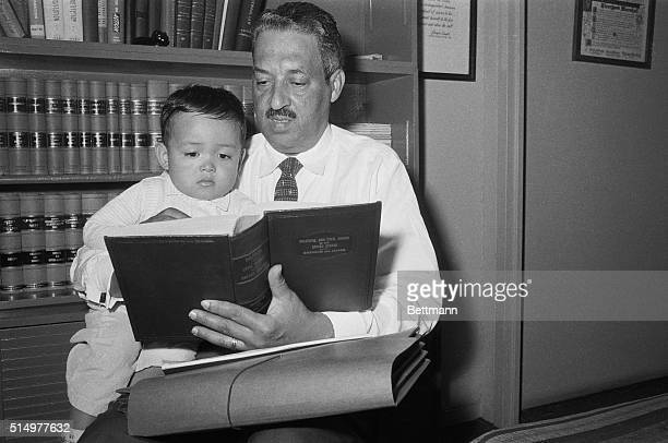 Thurgood Marshall attorney for the National Association for the Advancement of Colored People reads Political and Civil rights in the United States...