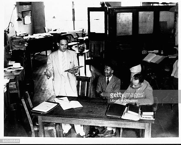 Thurgood Marshall Charles Houston and Donald Gaines Murray prepare a desegregation case against the University of Maryland in 1935