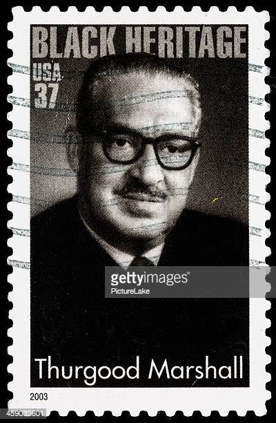 usa thurgood marshall sello postal - black history fotografías e imágenes de stock