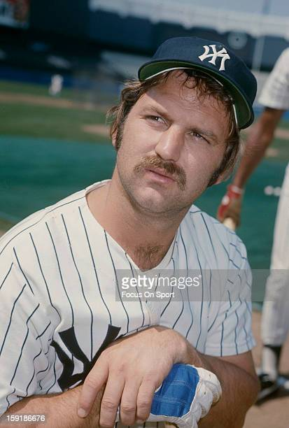 Thurman Munson of the New York Yankees poses for this portrait before an Major League Baseball game circa 1970 at Yankee Stadium in the Bronx borough...
