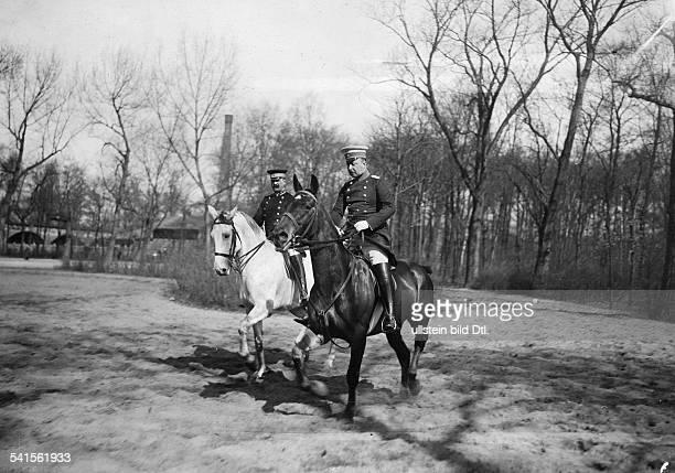 Thurn und Taxis Prinz Albert von Germany*08051867 on horseback in Tiergarten Berlin Published by 'Dame' 13 / 1913Vintage property of ullstein bild