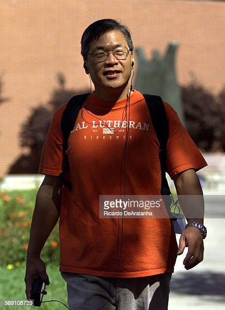 Thursday Thousand Oaks CA – DIGITAL IMAGE – Masamichi Kira of Japan walking on the Thousand Oaks campus of Cal Lutheran University where he attends...
