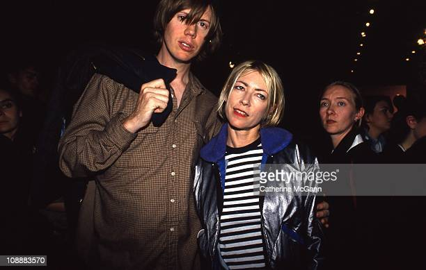 Thurston Moore and wife Kim Gordon of Sonic Youth during fashion week in 1994 in New York City New York