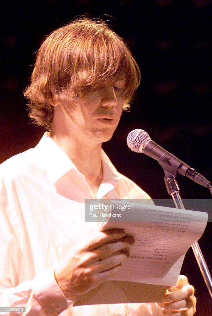 Thurston Moore of Sonic Youth during 2003 Howl! Festival - Lou Reed And Friends, FEVA Benefit Reading - New York City at Joe's Pub in New York, New York, United States.