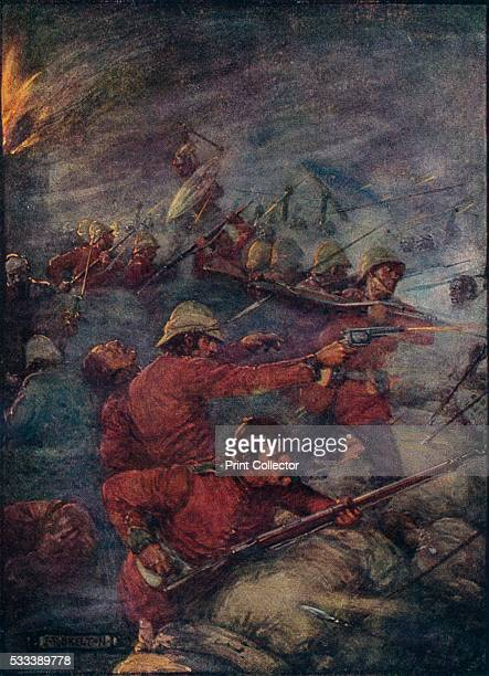 Thus Did A Hundred Men Keep Three Thousand Savages At Bay' from 'Our Empire Story' by HE Marshall c1920 In 1877 Theophilus Shepstone a British South...