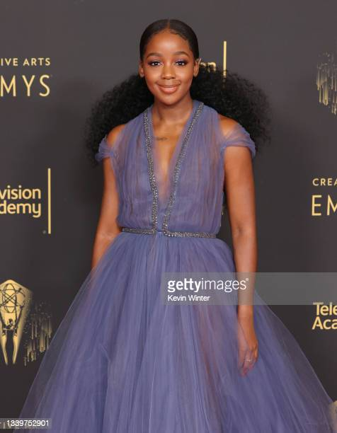 Thuso Mbedu attends the 2021 Creative Arts Emmys at Microsoft Theater on September 11, 2021 in Los Angeles, California.