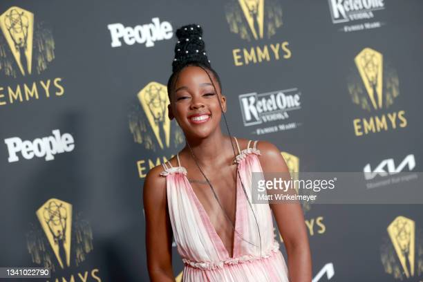 Thuso Mbedu attends the Television Academy's Reception to Honor 73rd Emmy Award Nominees at Television Academy on September 17, 2021 in Los Angeles,...