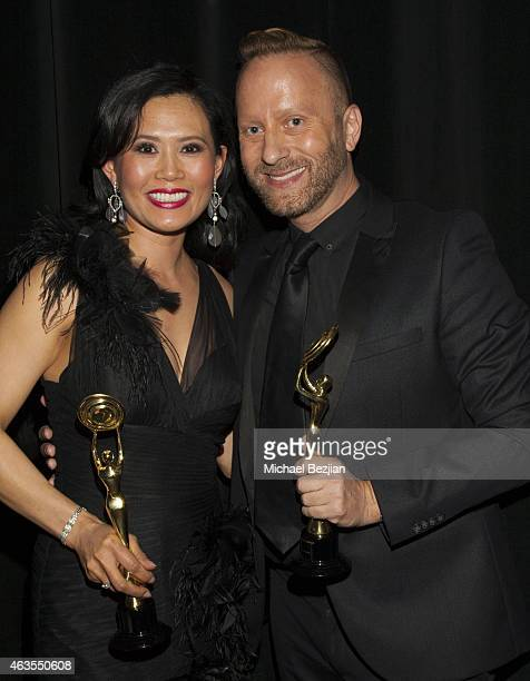 Thuy Pham and Gregory Arlt backstage at 1st Hollywood Beauty Awards Presented By LATF And Benefiting Children's Hospital Los Angeles at The Fonda...