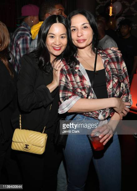 ThuyAnh J Nguyen and Leila MomenSafaii attend Jay Rock's Birthday at The Novo VIP Lounge on March 29 2019 in Los Angeles California