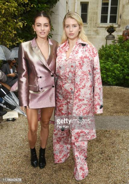 Thylane Blondeau and Lottie Moss attend the Paul & Joe Womenswear Spring/Summer 2020 show as part of Paris Fashion Week on September 29, 2019 in...