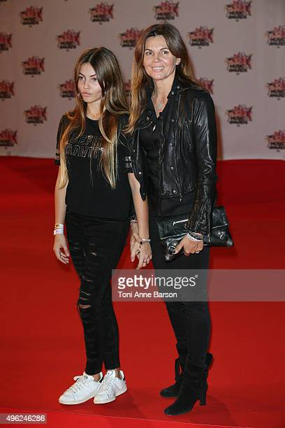 Thylane Blondeau and Veronika Loubry attend the17th NRJ Music Awards at Palais des Festivals on November 7 2015 in Cannes France