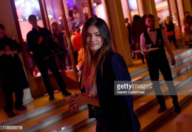 Thylane Blondeau arrives at the Tommy Hilfiger TOMMYNOW Spring 2019 TommyXZendaya Premieres at Theatre des ChampsElysees on March 02 2019 in Paris...