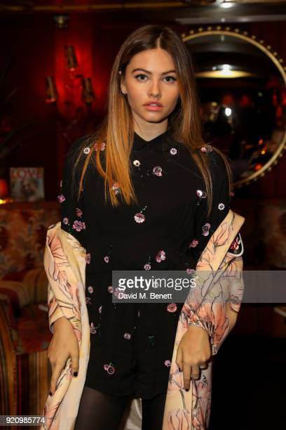 Thylane Blondeau at LOVE and MIU MIU Women's Tales Party at Loulou's on February 19 2018 in London England