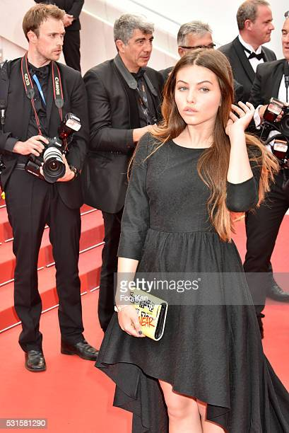 Thylane Blondeau attends 'The BFG ' premiere during the 69th annual Cannes Film Festival at the Palais des Festivals on May 14, 2016 in Cannes,...
