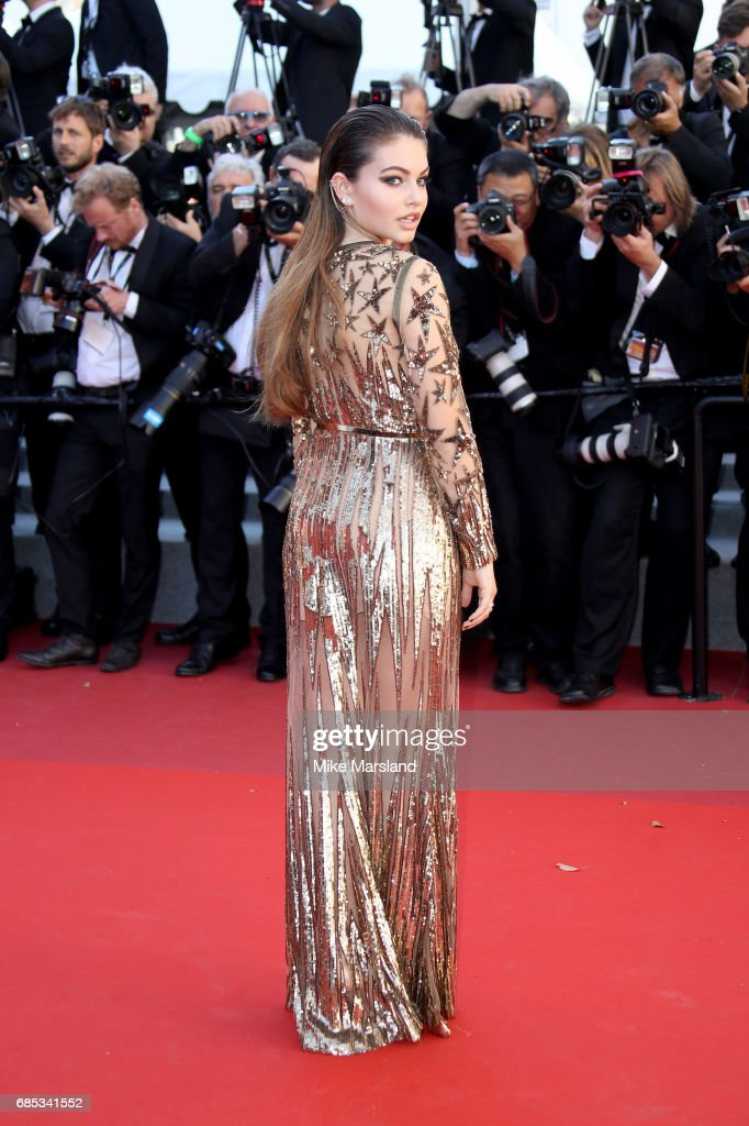 Thylane Blondeau attends the 'Okja' screening during the 70th annual Cannes Film Festival at Palais des Festivals on May 19, 2017 in Cannes, France.