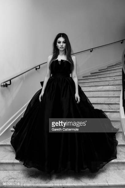 Thylane Blondeau departs the Martinez Hotel during the 71st annual Cannes Film Festival at on May 10 2018 in Cannes France