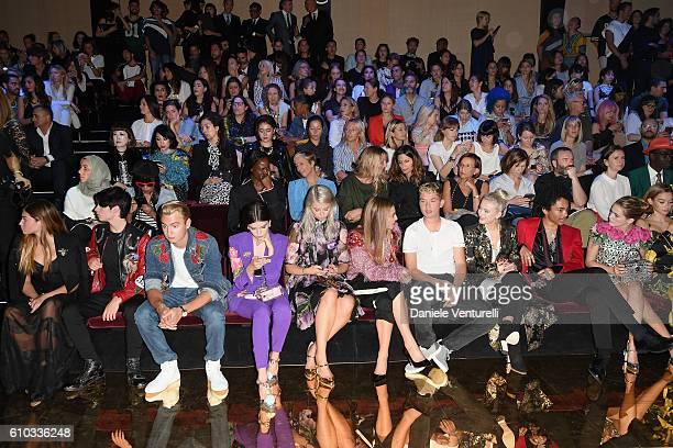 Thylane Blondeau Dylan Jagger Lee Brandon Thomas Lee Sonia Ben Ammar guest Talita Von Furstenberg Rafferty Law Luka Sabbat and Zoey Deutch attend the...