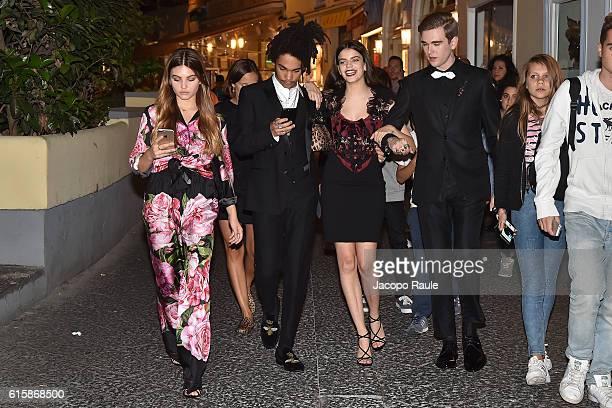 Thylane Blondeau Luka Sabbat Sonia Ben Ammar and Gabriel Kane Day Lewis are seen during the DolceGabbana Summer 2017 #DGMillennials Advertising...