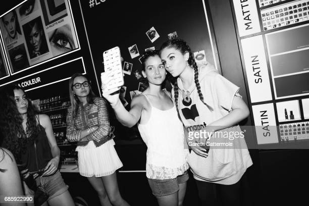 Thylane Blondeau meets fans at the L'Oreal Paris beach studio on May 19 2017 in Cannes France