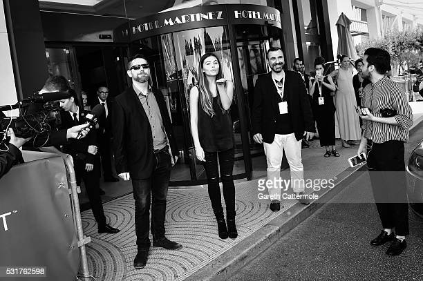 Thylane Blondeau meets fans outside the Martinez Hotel during the 69th annual Cannes Film Festival on May 14 2016 in Cannes France