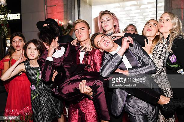 Thylane Blondeau Pyper America Smith Brandon Thomas Lee Cameron Dallas Isabel Getty Dylan Jagge Zhang Huiwen and Daisie Smith attend the DolceGabbana...