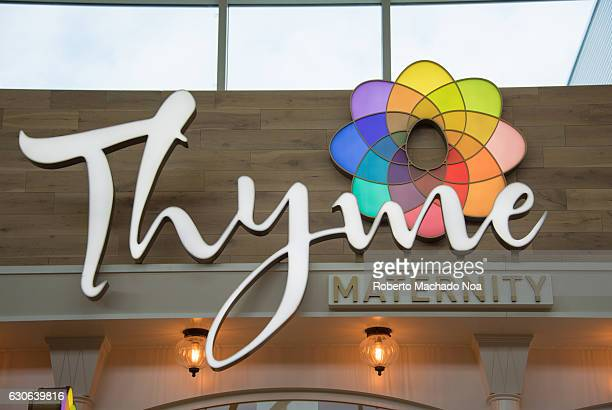 Thyme maternity logo and signage Thyme Maternity is Canadas largest maternity fashion retailer