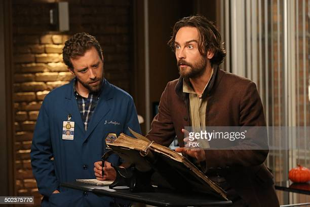 Thyne and guest star Tom Mison in the special 'The Resurrection in the Remains' BONES/SLEEPY HOLLOW crossover episode of BONES airing Thursday Oct 29...