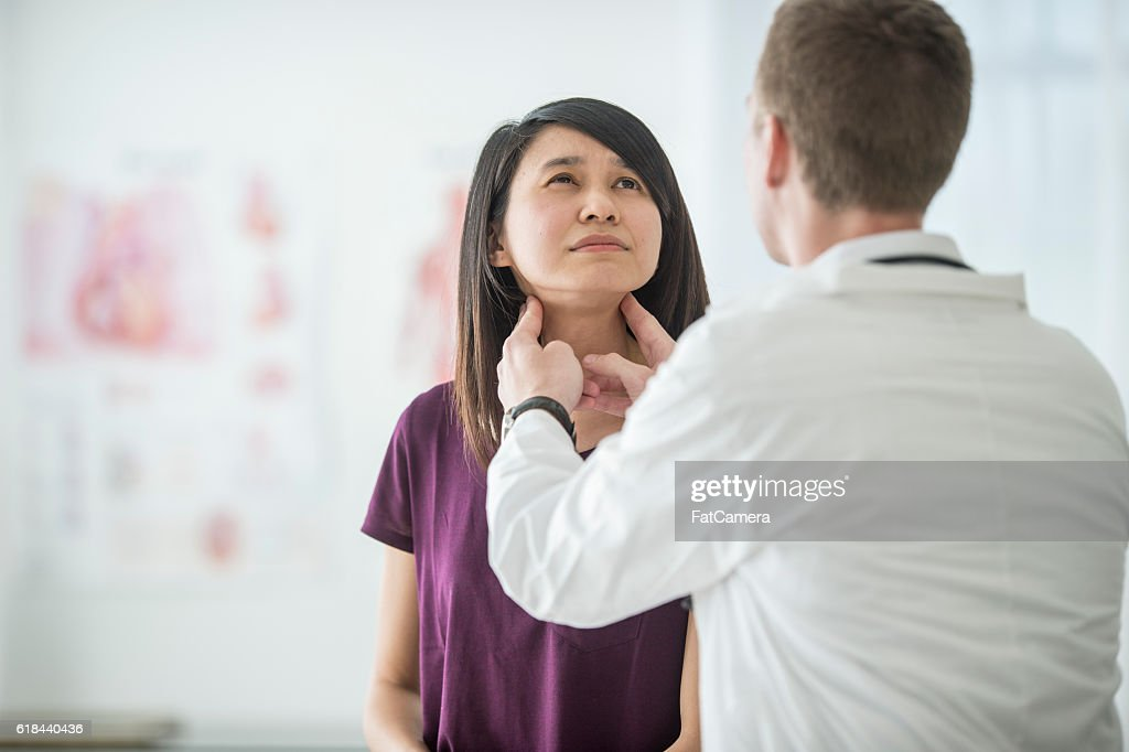 Thyroid Cancer Checkup : Stock Photo