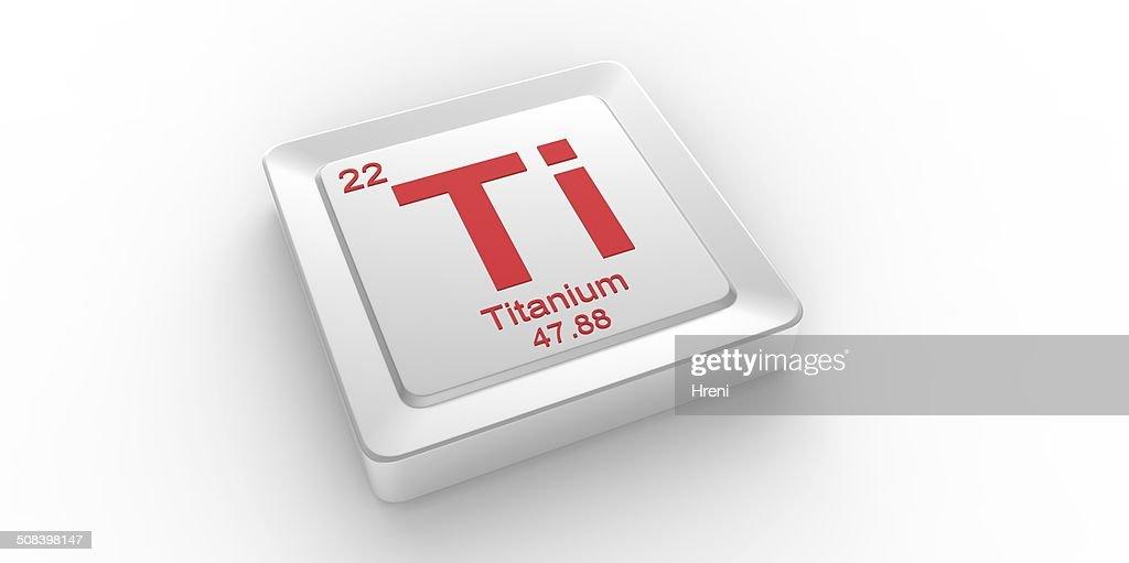 Ti Symbol 22 Material For Titanium Chemical Element Stock Photo