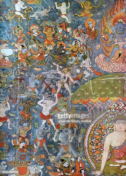 Ti Tsang P'usa the judge of the underworld Detail depicting a scene from the Buddhist afterlife dating to 10th century From the Mogao Caves or Mogao...