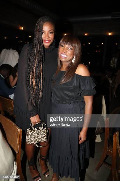 Tia Beauchamp and Mikki Taylor Attend Harlem's Fashion Row at La Marina Restaurant Bar Beach Lounge on September 6 2017 in New York City