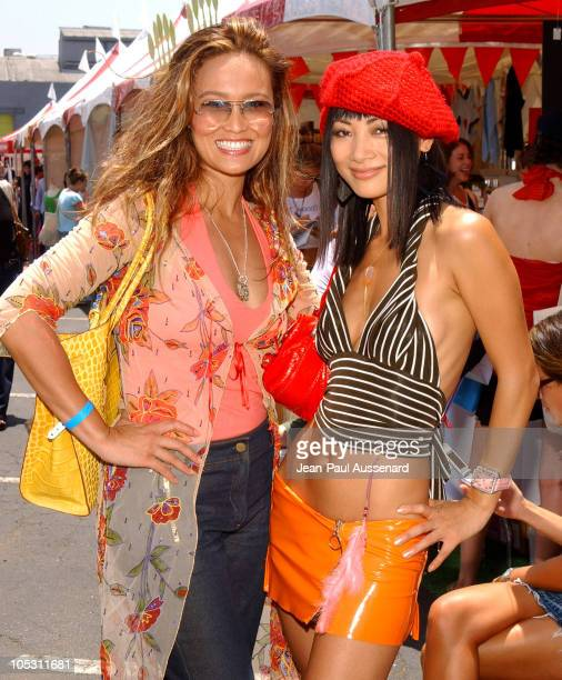 Tia Carrere and Bai Ling during Silver Spoon Hollywood Buffet Day Two at Private Estate in Hollywood California United States