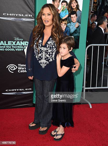 Tia Carrere and Bianca Wakelin arrives at the Alexander And The Terrible Horrible No Good Very Bad Day Los Angeles Premiere at the El Capitan Theatre...