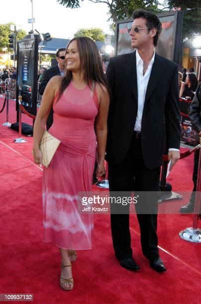 Tia Carrere and guest during Terminator 3 Rise of the Machines World Premiere at Mann Bruin in Los Angeles California United States
