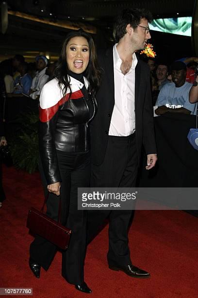 Tia Carrere and Simon Wakelin during 2002 Fox Billboard Bash - Arrivals at Studio 54 inside MGM Grand Casino in Las Vegas, NV.