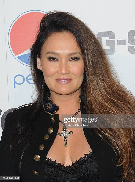 Tia Carrere arrives at Republic Records Post Grammy Party at 1 OAK on January 26 2014 in West Hollywood California