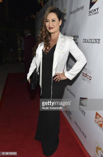 Tia Carrere arrives at the 9th Annual AAFCA Awards at Taglyan Complex on February 7 2018 in Los Angeles California