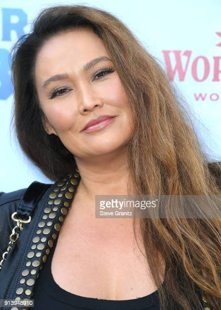 Tia Carrere arrives at the Premiere Of Columbia Pictures' 'Peter Rabbit' at The Grove on February 3 2018 in Los Angeles California