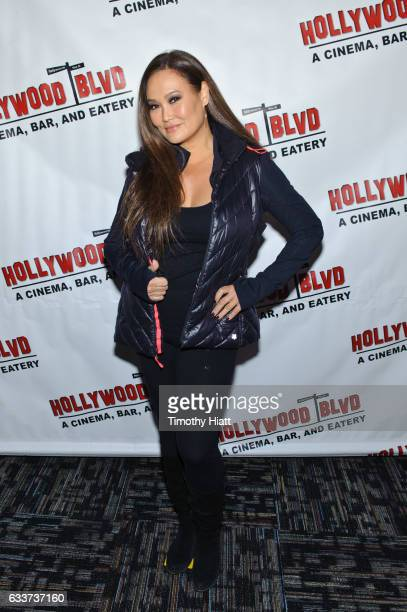 Tia Carrere attends a 25th Anniversary Screening of Wayne's World at Hollywood Boulevard Cinema on February 3 2017 in Woodridge Illinois