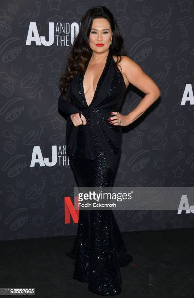 Tia Carrere attends Premiere of Netflix's AJ and the Queen Season 1 at the Egyptian Theatre on January 09 2020 in Hollywood California