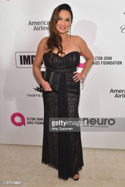 Tia Carrere attends the 27th annual Elton John AIDS Foundation Academy Awards Viewing Party celebrating EJAF and the 91st Academy Awards on February...