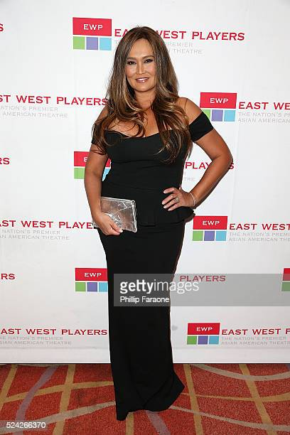 Tia Carrere attends the East West Players 50th Anniversary Visionary Awards Dinner and Silent Auction at Hilton Universal City on April 25 2016 in...